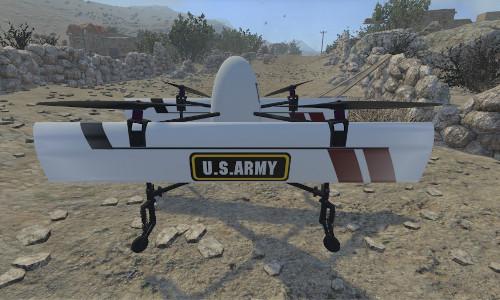 A U.S. Army aerial drone.